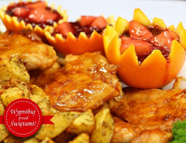 Cytrusowy kurczak z żurawinowym sosem