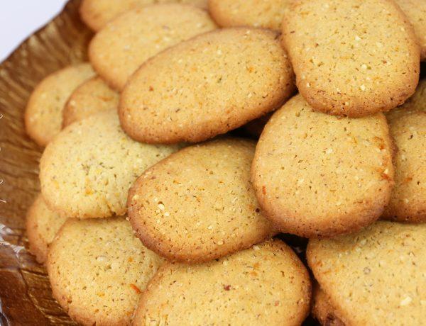 Ciasteczka pomarańczowo - migdałowe.