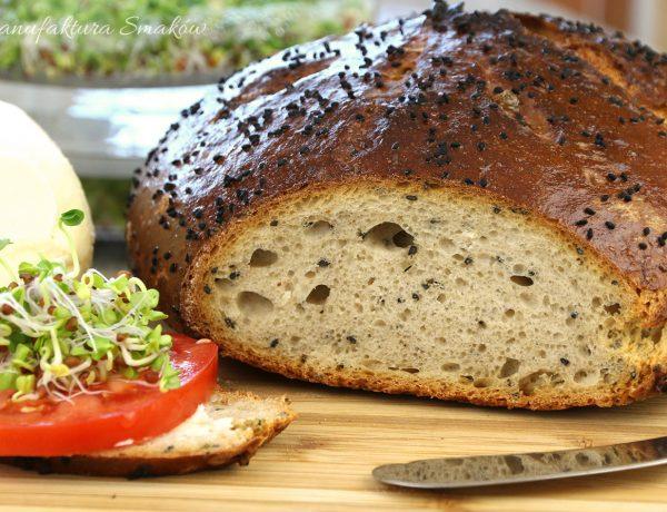 Chleb pszenno - żytni z czarnuszką