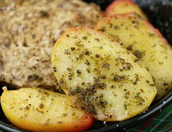 Jabłka w majeranku