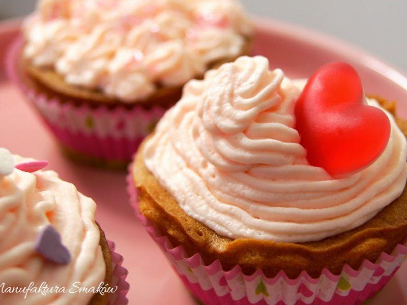 Walentynkowe babeczki waniliowe