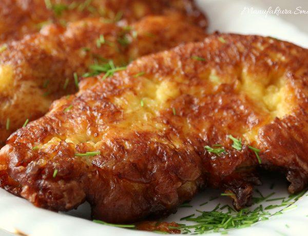 Polędwiczki w pikantnym cieście serowym