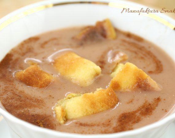 Zupa śliwkowa z omletem cesarskim