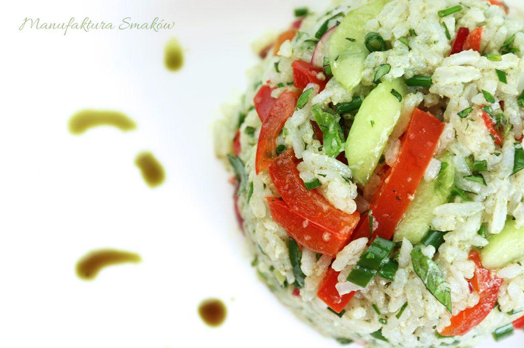 Zielony ryż z warzywami | Manufaktura Smaków